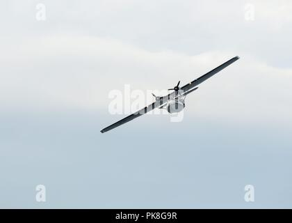 Consolidated PBY-5A Catalina in flight at the Scottish International Airshow in Ayr, Scotland, UK - Stock Photo