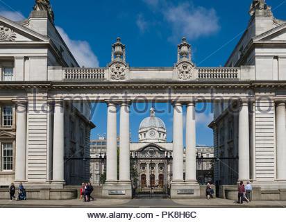 Government Buildings, Upper Merrion Street, Dublin, Leinster, Ireland - Stock Photo