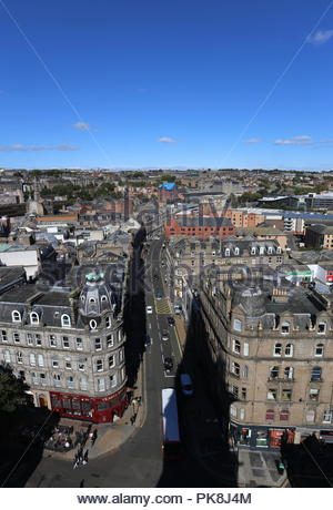 Elevated view of Seagate Dundee Scotland  September 2018 - Stock Photo