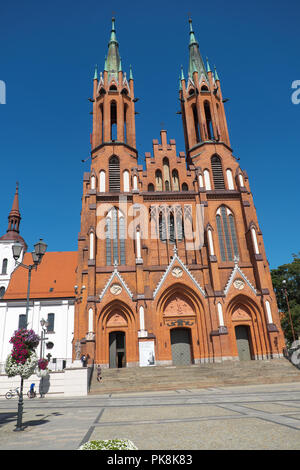 Bialystok Poland the Cathedral Basilica of the Assumption of the Blessed Virgin Mary neo gothic church Stock Photo