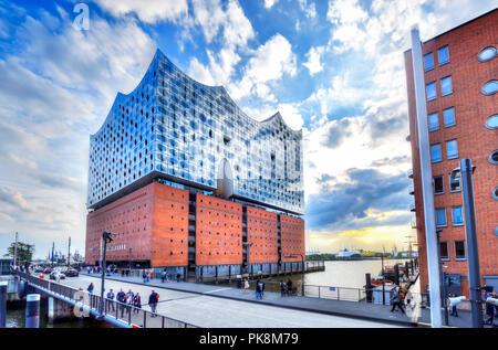 Elbe Philharmonic Hall Elbphilharmonie in Hamburg, Germany - Stock Photo