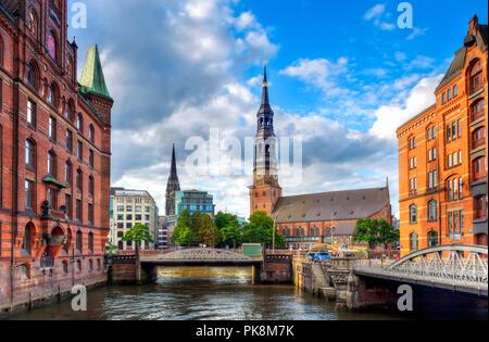 St. Catherine's Church, Katharinenkirche, in Hamburg, Germany - Stock Photo