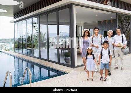 Happy family on vacation - Stock Photo