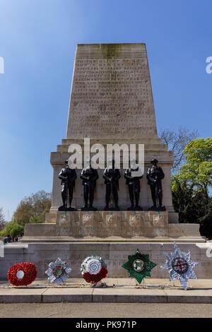 Guards Memorial, St. James's Park, London, England United Kingdom UK - Stock Photo