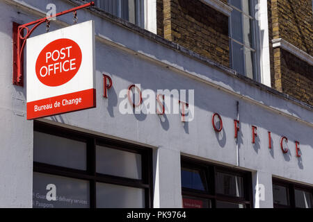 Post Office branch in London, England United Kingdom UK - Stock Photo