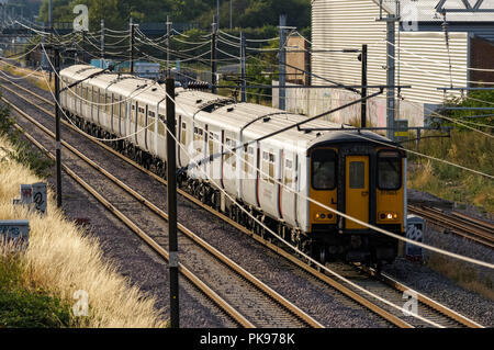 Greater Anglia train in London, England United Kingdom UK - Stock Photo