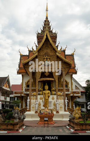 Wat Buppharam temple on Tha Phae Rd Chiang Mai, Thailand - Stock Photo