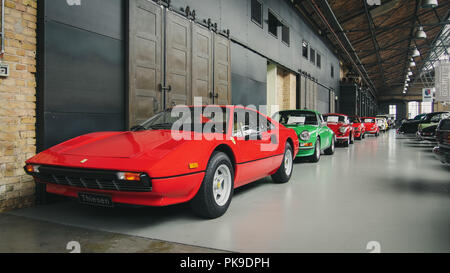 BERLIN, GERMANY-JULY 30, 2016: Ferrari 308 GTB berlinetta in the Classic Remise - Stock Photo