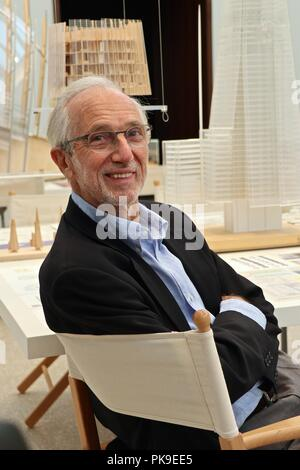 Renzo Piano .The art Of Making Buildings12 September 2018 Royal Academy Of Arts - Stock Photo