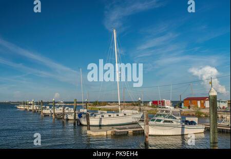 Sailboats at Nautical Landings Marina in Port Lavaca, Gulf Coast, Texas, USA - Stock Photo