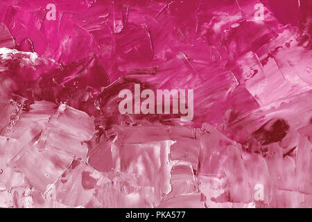 Abstract background texture in purple tones, brush strokes with oil paints on canvas - Stock Photo