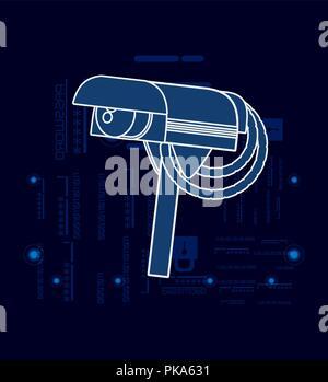 cctv camera isolated icon vector illustration design - Stock Photo