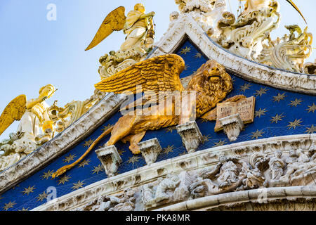 Interior details St. Mark's Basilica in Venice. - Stock Photo