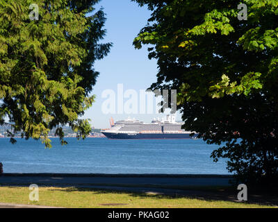 Holland America Line Cruise Ship Leaving Vancouver - Stock Photo