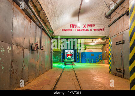 Underground object of fortification destruction, military-historical object, Balaklava, Russia - Stock Photo