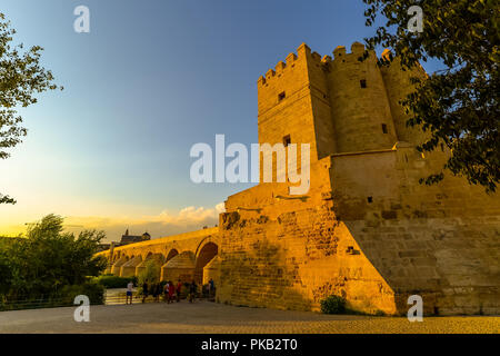 The Roman bridge in Cordoba - Spain - Stock Photo