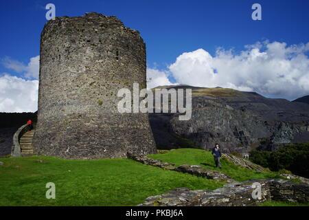 Dolbadarn Castle, near Llanberis and Padarn Lake. Image taken October 2016. - Stock Photo