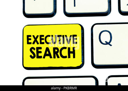 Text sign showing Executive Search. Conceptual photo recruitment service organizations pay to seek candidates. - Stock Photo