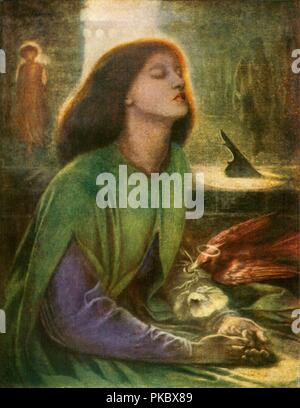 'Beata Beatrix', c1864-1870, (c1912). Artist: Dante Gabriel Rossetti. - Stock Photo