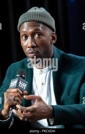 Toronto, Canada. 12th Sep 2018. Mahershala Ali attends the press conference of 'Green Book' during the 43rd Toronto International Film Festival, tiff, at Bell Lightbox in Toronto, Canada, on 12 September 2018. | usage worldwide Credit: dpa picture alliance/Alamy Live News - Stock Photo