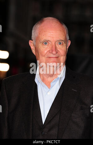 London, UK. 12th Sep 2018. Jim Broadbent attending The WORLD PREMIERE of KING of THIEVES  at The   Vue West  End  Leicester Square London 12th September 2018 Credit: Peter Phillips/Alamy Live News - Stock Photo