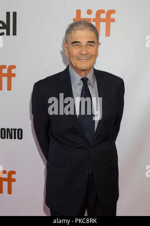 Toronto, Canada. 12th Sep, 2018. Actor Robert Forster poses for photos before the international premiere of the film 'What They Had' at Roy Thomson Hall during the 2018 Toronto International Film Festival in Toronto, Canada, Sept. 12, 2018. Credit: Zou Zheng/Xinhua/Alamy Live News - Stock Photo