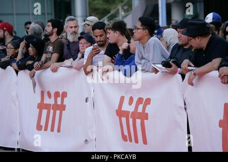 Toronto, Canada. 12th Sep, 2018. Atmosphere at arrivals for WHAT THEY HAD Premiere at Toronto International Film Festival 2018, Roy Thomson Hall, Toronto, Canada September 12, 2018. Credit: JA/Everett Collection/Alamy Live News - Stock Photo