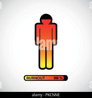 pictogram concept of stress, burnout, headache, depression vector illustration - Stock Photo
