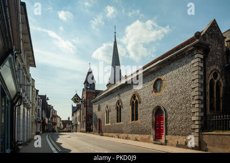 Late summer in Lewes, East Sussex, England. - Stock Photo