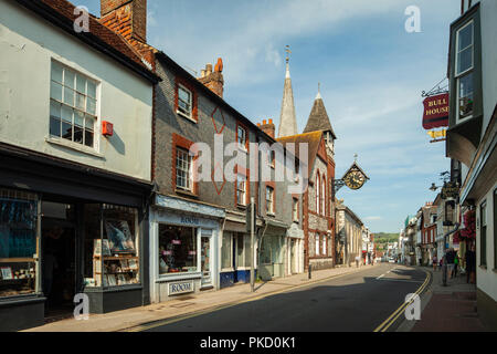 High Street in Lewes, East Sussex, England. - Stock Photo