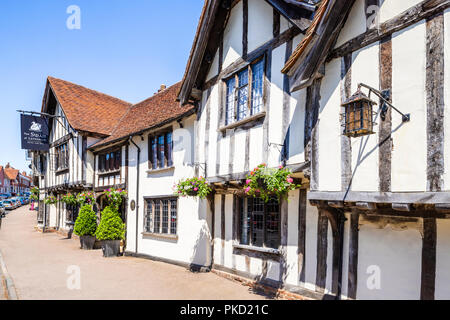 The 15th century Swan Inn in Lavenham, Suffolk UK - Stock Photo
