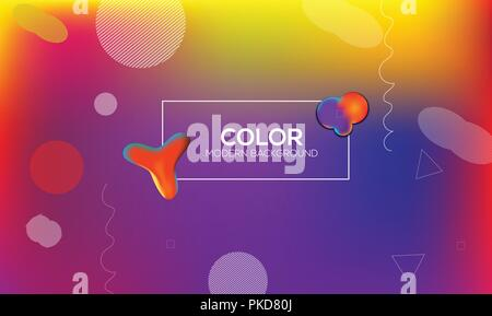 Colorful geometric background design. Fluid shapes composition with trendy gradients. Eps10 vector. - Stock Photo