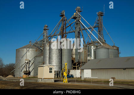Silos on farmland - Stock Photo