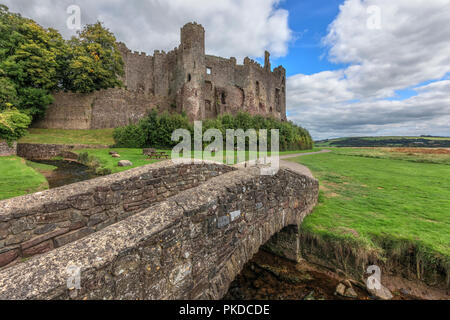 Laugharne Castle, Carmarthenshire, Wales, UK, Europe - Stock Photo