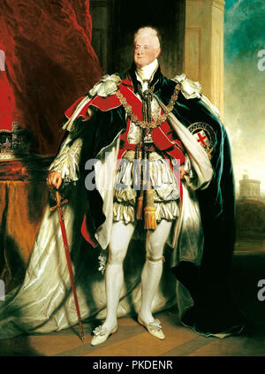 King William IV (1765 – 1837) King of the United Kingdom of Great Britain and Ireland and King of Hanover from 26 June 1830 until his death in 1837 - Stock Photo