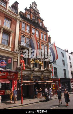 De Hems Dutch bar Macclesfield Street Soho London - Stock Photo