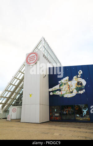 Dundee Science Centre, with exhibitions, shows and demonstrations for all the family, in Scotland, UK - Stock Photo