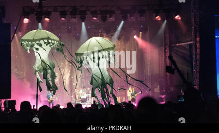 Canadian Band Metric performing at Skookum Music Festival in Stanley Park in Vancouver, BC on September 7th, 2018 - Stock Photo