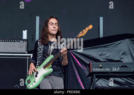 American band Greta Van Fleet performing at Skookum Music Festival in Stanley Park in Vancouver, BC on September 7th, 2018 - Stock Photo