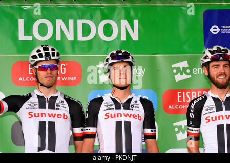 of team Sunweb at the OVO Energy Tour of Britain cycle race, Stage 8, London, UK. - Stock Photo