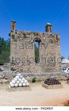 Part of the Othello Castle in Famagusta, Northern Cyprus. Reputed to be the inspiration for William Shakespeare's play of the same name - Stock Photo