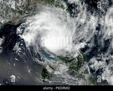 Giant cyclone on the planet Earth. Elements of this image furnished by NASA. - Stock Photo