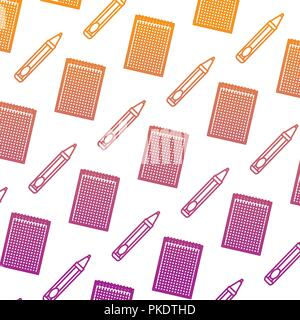notebook school with pen pattern - Stock Photo