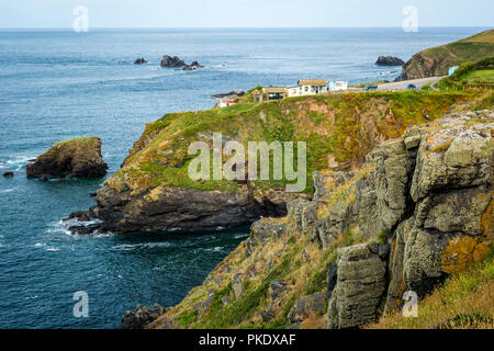 Lizard Point (the most southerly point in mainland Britain), Helston, Cornwall, England - Stock Photo