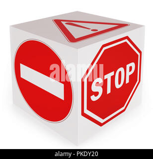 No entry! Stop! Danger! conceptual traffic signs - Stock Photo