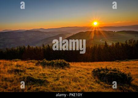 sunrise in the alps - Stock Photo