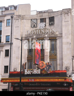 Bat Out of Hell showing at Dominion Theatre London August 2018 - Stock Photo