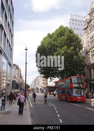 Oxford Street London August 2018 - Stock Photo