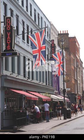 Quo Vadis restaurant Dean Street Soho London - Stock Photo