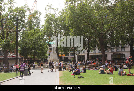 Leicester Square Gardens London summer 2018 - Stock Photo